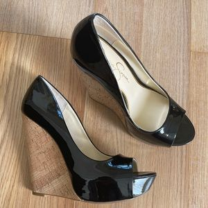 Jessica Simpson Faux Leather Heels